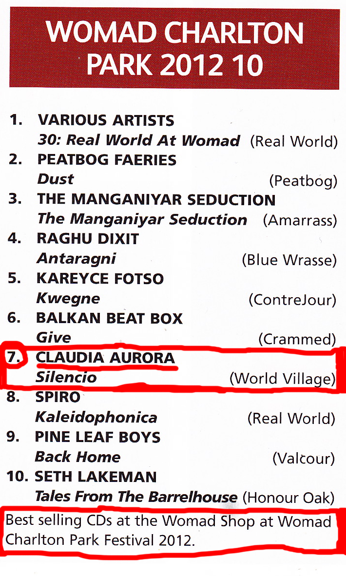 121224 Best-selling-CDs-at-WOMAD-2012