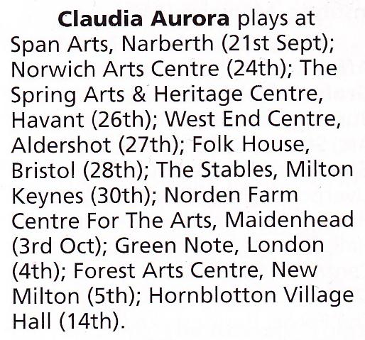 121224 Claudia-Aurora-Autumn-Tour-on-fRoots